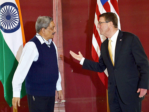 Manohar Parrikar, Ash Carter, Ashton B. Carter, India America, USA