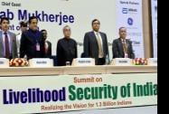 President Pranab Mukherjee and ASSOCHAM president Rana Kapoor