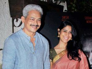 Atul Kulkarni and Sakshi Tanwar during the special screening of short film Azad