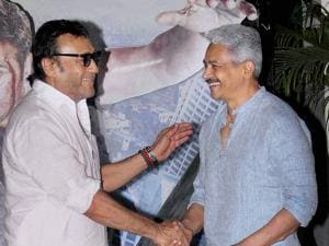 Jackie Shroff and Atul Kulkarni during the special screening of short film Azad