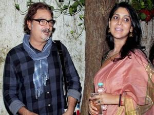 Sakshi Tanwar and Vinay Pathak during the special screening of short film Azad in Mumbai