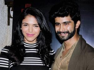 Siddharth Menon and Shriya Pilgaonkar during the special screening of short film Azad