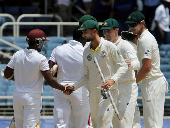 Nathan Lyon, Veerasammy Permaul, Australia, West Indies, Frank Worrell Trophy, Kingston, Jamaica, Test match