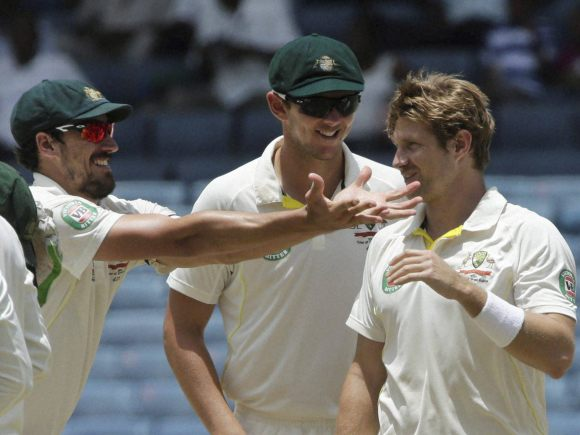 Shane Watson, Mitchell Starc, Jason Holder, Australia, West Indies, Frank Worrell Trophy, Kingston, Jamaica, Test match