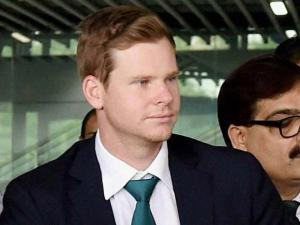 Australian Captain Steve Smith arrives at NSCBI Airport for the T 20 World Cup match in Kolkata