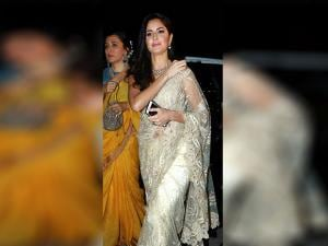 Katrina Kaif arrives to attend iconic actor Amitabh Bachchan's Diwali party