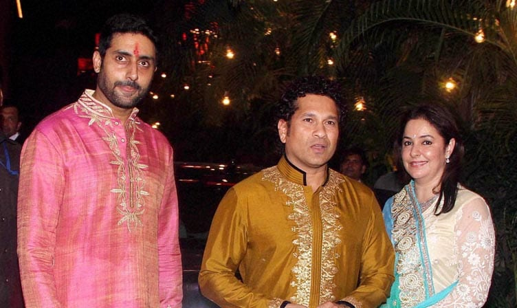 Cricket legend, Sachin Tendulkar,wife, Anjali, Abhishek Bachchan, Bachchans', Diwali party, Mumbai