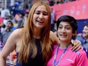 Jwala Gutta and Ashwini Ponnappa at the Badminton Asia Team Championships in Hyderabad