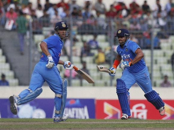 Mahendra Singh Dhoni, Suresh Raina, India, Bangladesh, Dhaka, ODI series, Second One-Day International
