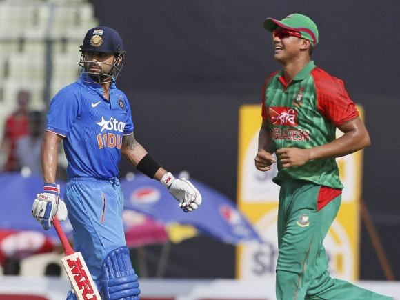 Virat Kohli, Nasir Hossain, India, Bangladesh, Dhaka, ODI series, Second One-Day International