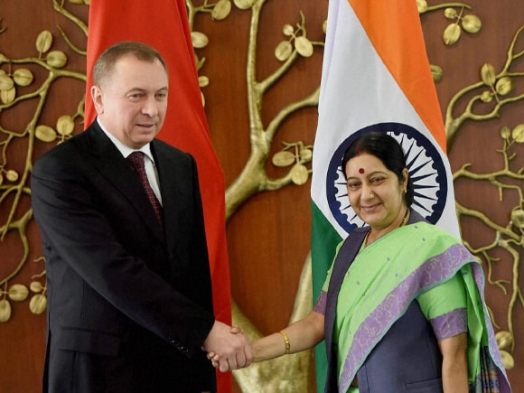 Foreign Minister of India, Sushma Swaraj, Belarus, Belarus Foreign Affairs Minister, Makei, India