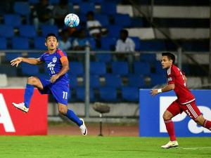 Bengaluru FC and Johor Darul TA'ZIM (MAS) players in action