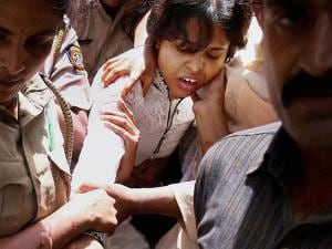 Police stop Rangaragini Bhumata Brigade (RBB) leader Trupti Desai and her supporters from entering the Kapaleshwar Temple in Nasik district of Maharashtra (2)
