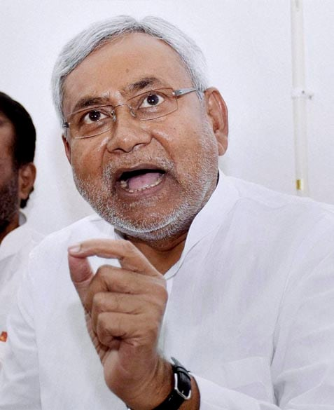 Former Bihar Chief Minister, Janata Dal (United) leader, Nitish Kumar, addressing, press conference, residence, Patna, Bihar bypoll results