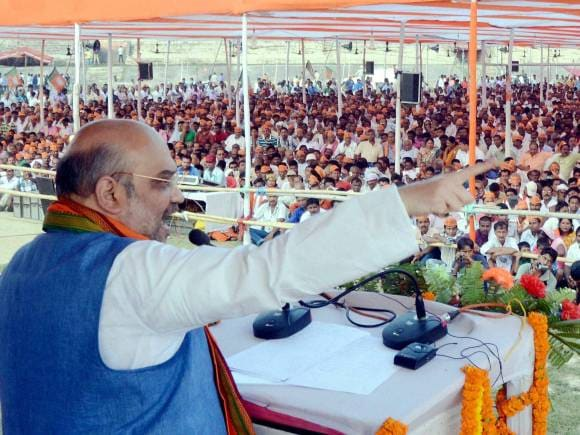 BJP National President, Amit Shah, Public rally, Rajendra Stadium, Bihar Elections, Bihar Polls, Bihar Election Date, BJP Vision Document