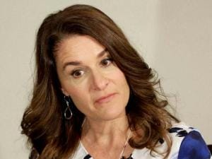 Melinda Gates talk to reporters about the 2016 annual letter from the Bill and Melinda Gates Foundation in New York