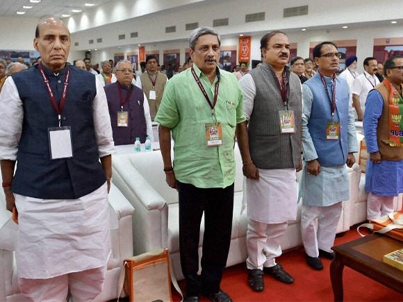 Rajnath Singh, Manohar Parrikar, Ananth Kumar, Shivraj Singh Chouhan, Nirmal singh