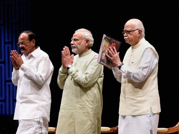 Prime Minister of India, Narendra Modi, Finance Minister of India, Arun Jaitley, Advani, Venkaiah Naidu, BJP Parliamentary Board, New Delhi, Lok Sabha, Rajya Sabha, Parliament