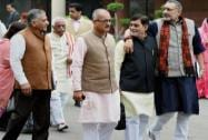 BJP Parliamentary meeting at Parliament library