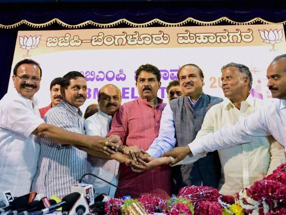 Karnataka BJP President, Sadananda Gowda, Prahlad Joshi, Ananth Kumar, R Ashoka