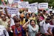 BJP workers protest against AAP government