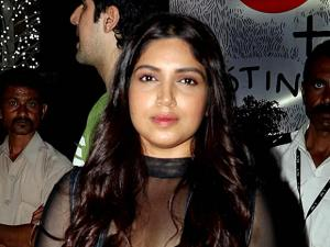 Bhumi Pednekar on the red carpet at Justin Bieber's concert