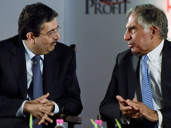 Ratan Tata, Uday Kotak, Kotak Mahindra Bank, Bombay Management Association, BMA, Award