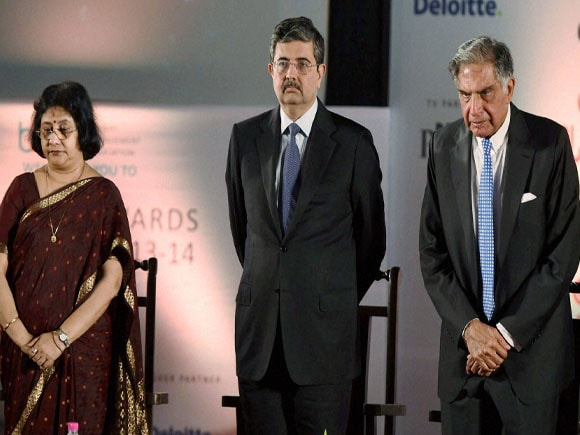 Ratan Tata, Uday Kotak, Kotak Mahindra Bank, Arundhati Bhattacharya, R.R.Patil, Bombay Management Association, BMA, Award
