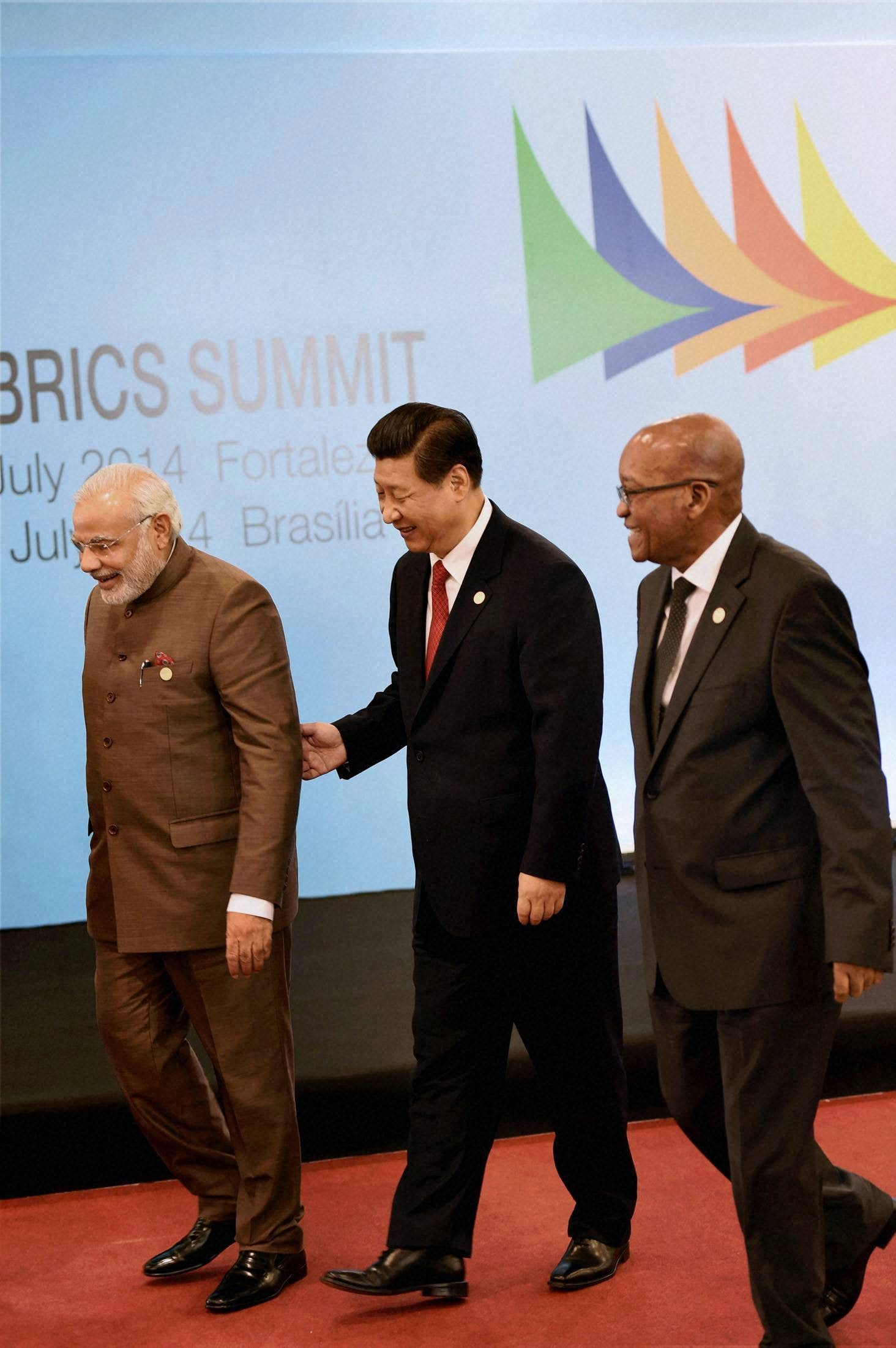 Prime Minister, Narendra Modi, Chinese President, Xi Jinping, South African, President, Jacob Zuma, BRICS Summit, Ceara events, Fortaleza, Brazil