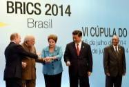 Prime Minister Narendra Modi join hands with Brazil's President