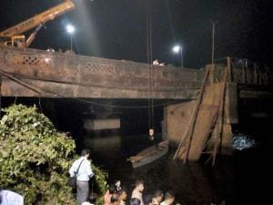 Rescue and relief works in progress after the Sanvardem Bridge collapsed in Curchorem