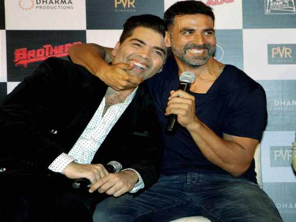 Akshay Kumar, Sidharth Malhotra, Filmmaker, Karan Johar, Brothers Trailer, Mumbai