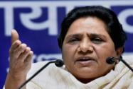 BSP chief Mayawati addresses a press conference in Lucknow