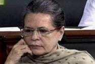 Congress President Sonia Gandhi in the Lok Sabha