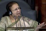 Speaker Sumitra Mahajan in the Lok Sabha