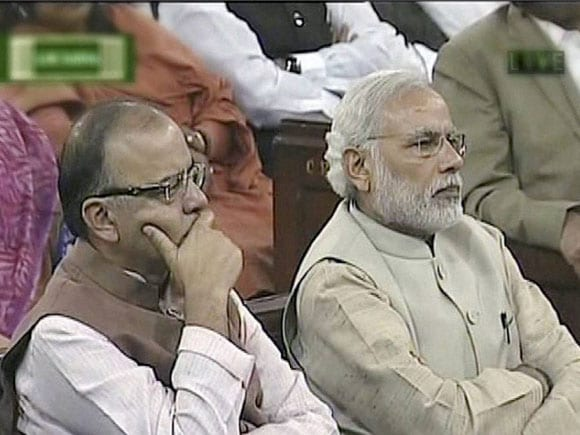 Prime Minister of India, Narendra Modi, Finance Minister of India,  Arun Jaitley, Lok Sabha, Central Hall
