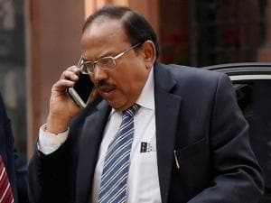 NSA Ajit Doval after a Cabinet meeting