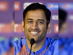 M S Dhoni during a press conference