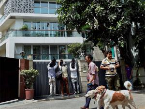 A view of former finance minister P Chidambaram's residence in New Delhi