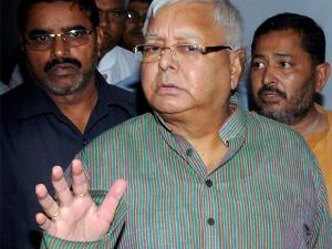former Bihar Chief Minister Lalu Prasad Yadav arrives to appear before the special CBI Court