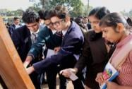 Students in Bhopal search their roll numbers for seat arrangement