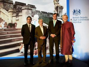 British High Commissioner to India Sir Dominic Asquith, Deputy High Commissioner for Western India Kumar Iyer, Maharashatra Industries Minister, Subhash Desai and Hollywood actor Sir Ian McKellen
