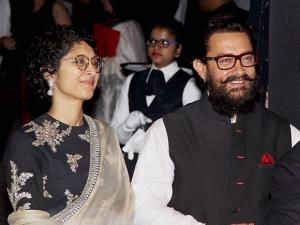 Aamir Khan along with his wife Kiran Rao during the success party of film 'Dangal' in Mumbai