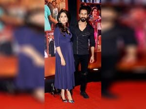 Shahid Kapoor with his wife Mira Rajput during the success party of film 'Dangal' in Mumbai