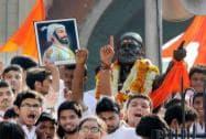 Devotees pays tribute to Chhatrapati Shivaji Maharaj birth anniversary at Gandhi gate in Nagpur