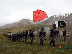 Xinjiang Chinese and Pakistan troops