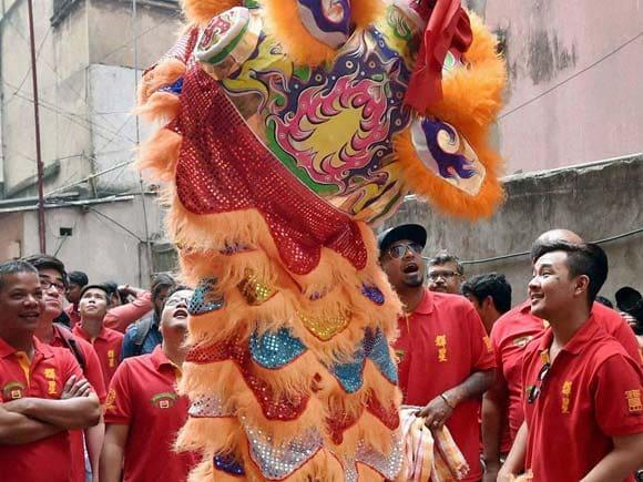 Chinese pepole , Chinatown, Culcatta, Kolkatta , New Year, Celebrate , Photos Gallery