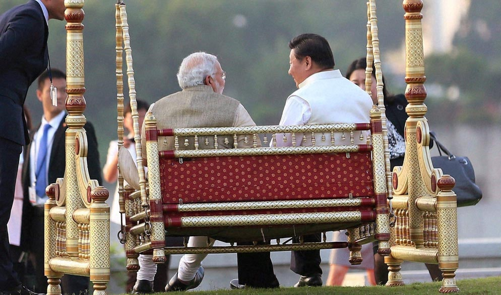 Prime Minister, Narendra Modi, Chinese President, Xi Jinping, traditional swing, Sabarmati River Front, Ahmedabad