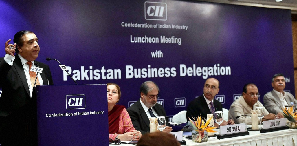 Zakaria Usman,President, Federation of Pakistan, Chambers, Commertce, Industry, addressing, CII luncheon, meeting, business, delegation, Pakistan