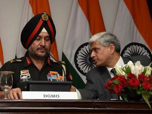 Ranbir Singh and External Affairs Spokesperson Vikas Swarup  address a Press Conferences